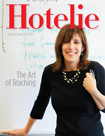 Hotelie magazine, spring 2013 issue cover