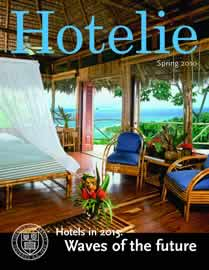 Hotelie magazine, spring 2010 issue cover