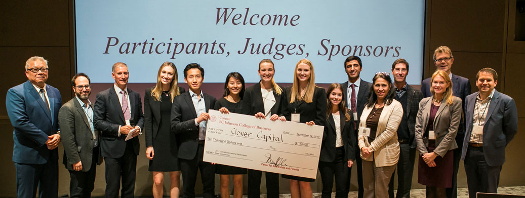 The Wharton School team, winners of the 2017 Cornell International Real Estate Case Competition
