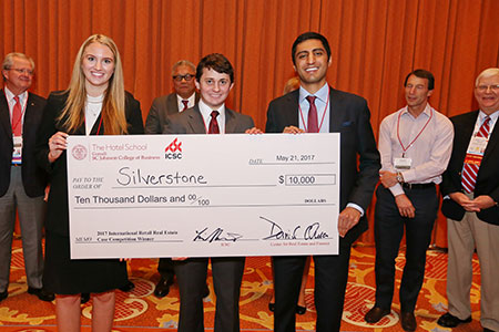 Winners of the 2017 Cornell ICSC International Real Estate Case Competition