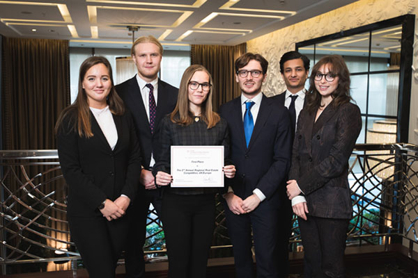 Winners of the 2nd Annual Cornell Regional Real Estate Competition, UK/Europe