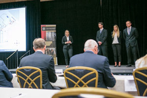 Another group presenting at the Retail Real Estate Case Competition