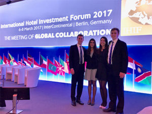 Cornell's winning team from the 2017 IHIF Student Case Competition