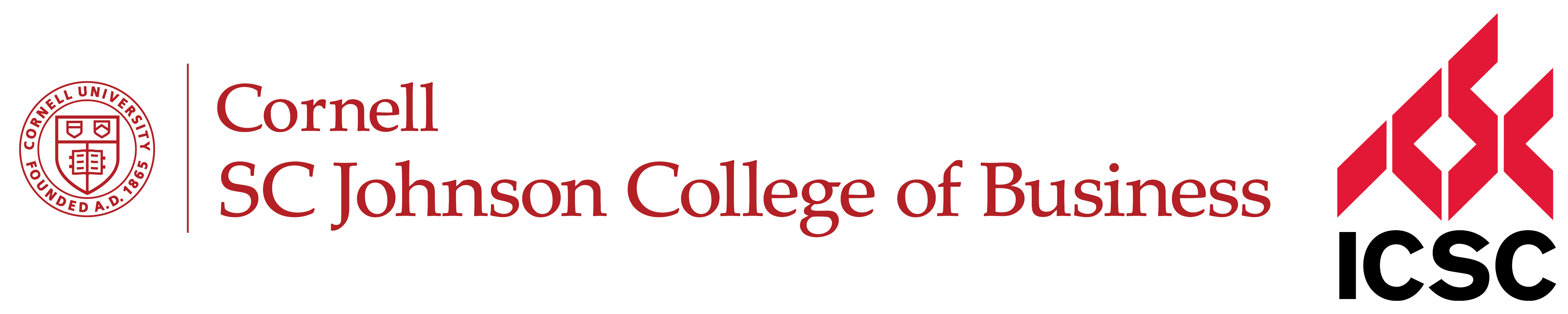 SC Johnson College of Business and ICSC Logo