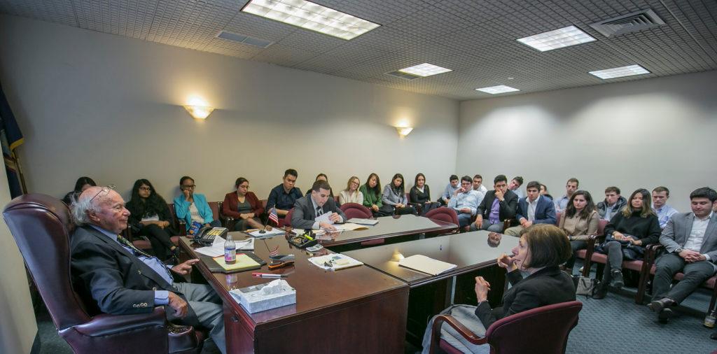 HADM 4810 / ILR 4060 Class Trip, people talking in a meeting