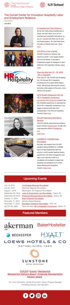 CIHLER Newsletter June 2019