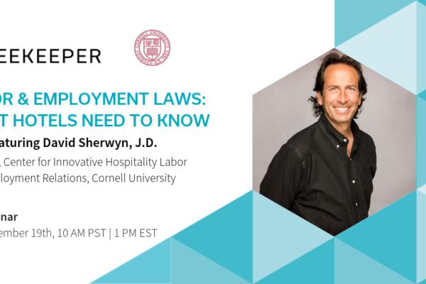Webinar: Labor & Employment Laws Banner featuring David Sherwyn