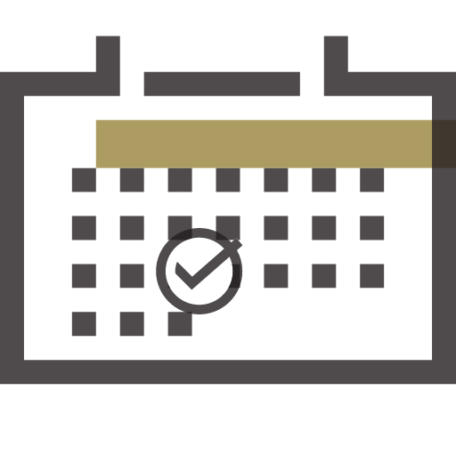Calendar Icon with check mark