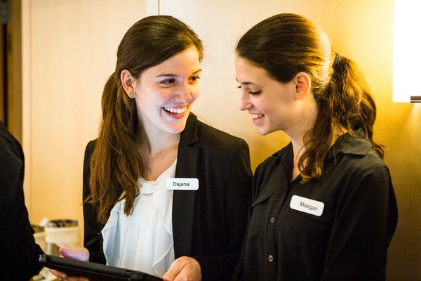 Restaurant Hostesses make reservations