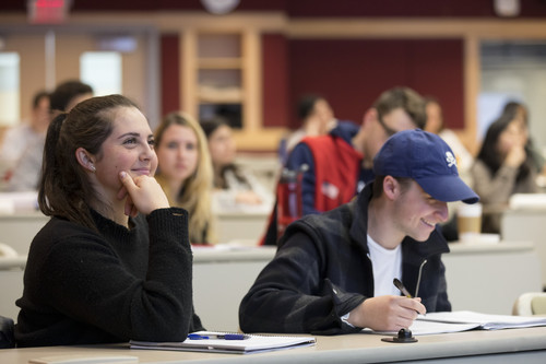 Cornell SHA Undergraduate students studying in classroom