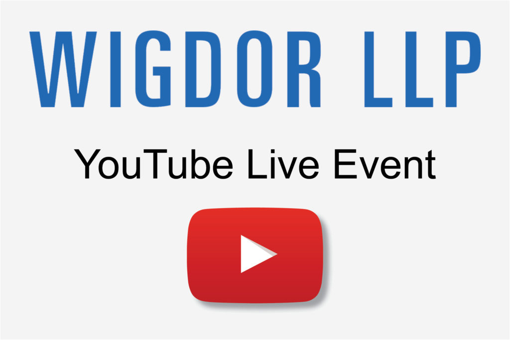 Wigdor LLP YouTube Live Event Graphic