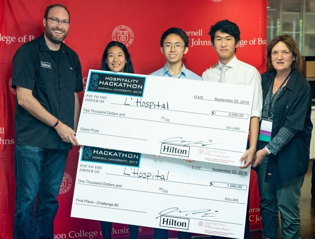 Grand prize winners Hackathon- Max Li, Jerry Sun, Sijia Zhou