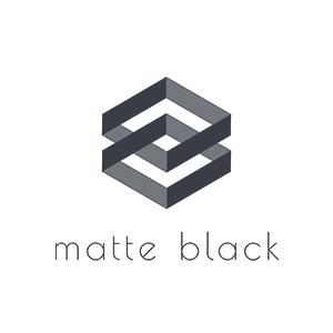 matte black logo