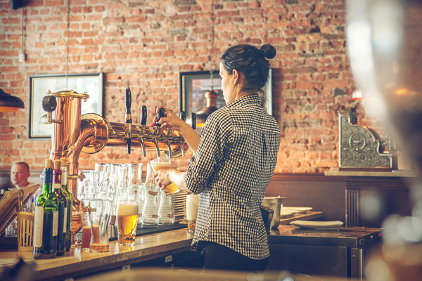 Stock photo: Women working at a bar