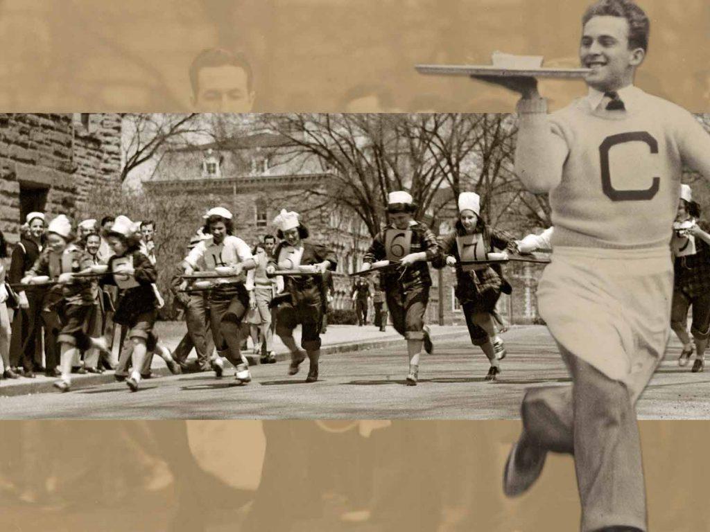 historical image of tray running at SHA