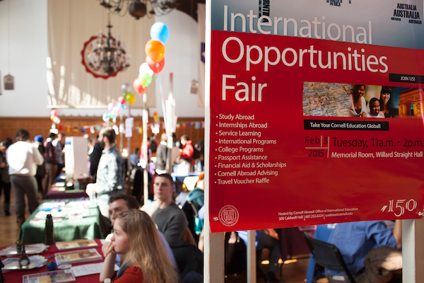 Students attend the International Opportunities Fair to learn more about study abroad