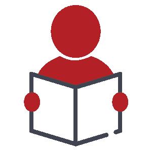 icon person holding a book icon