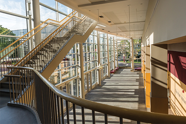 View from the stairs within the Tobert A. and Jan M. Beck Center