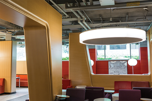 Soft seating work areas in the Marriott Student Learning Center (MSLC)