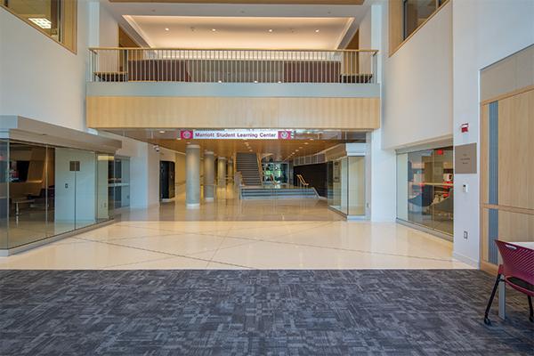 Photo of the Tsai Family Atrium empty event space