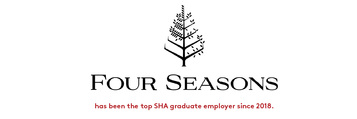 Four Seasons Hotels and Resorts has been the top SHA graduate employer since 2018.